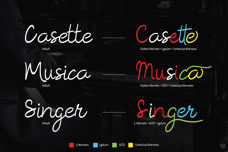 Rosella Script & Sans (Font Duo) example image 4