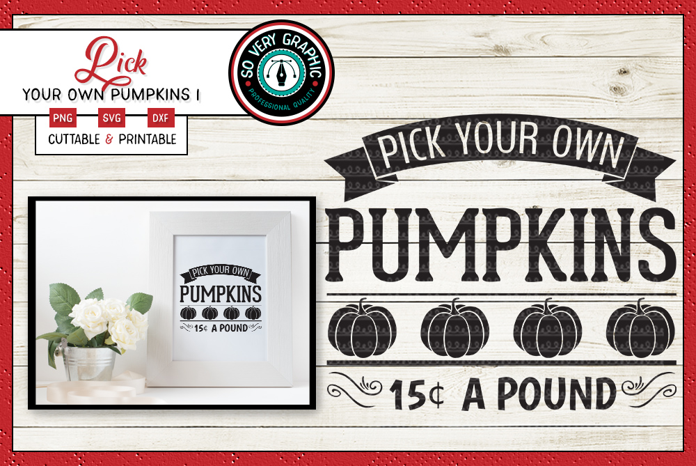 Pick Your Own Pumpkins   Cut SVG   Print PNG   Fall   Autumn example image 1