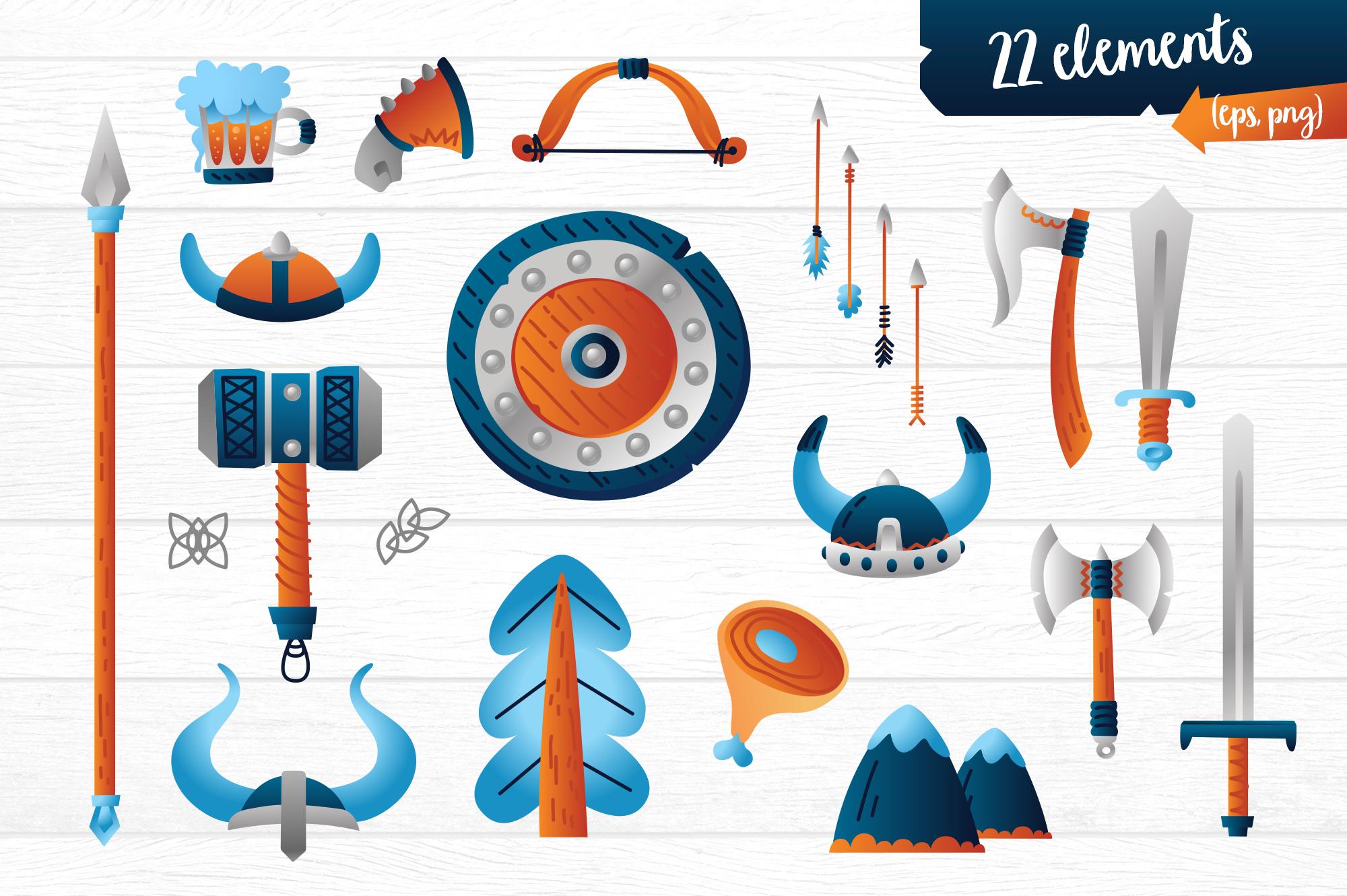 Vikings vector clip art illustration example image 3