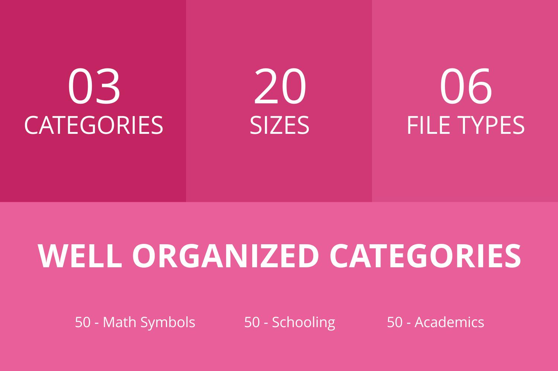 150 Academics Glyph Icons example image 3