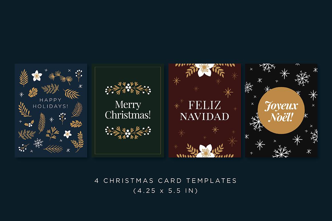 Elegant Christmas Graphic Set example image 4