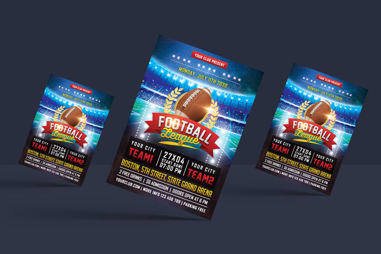 AMERICAN FOOTBALL FLYER example image 2