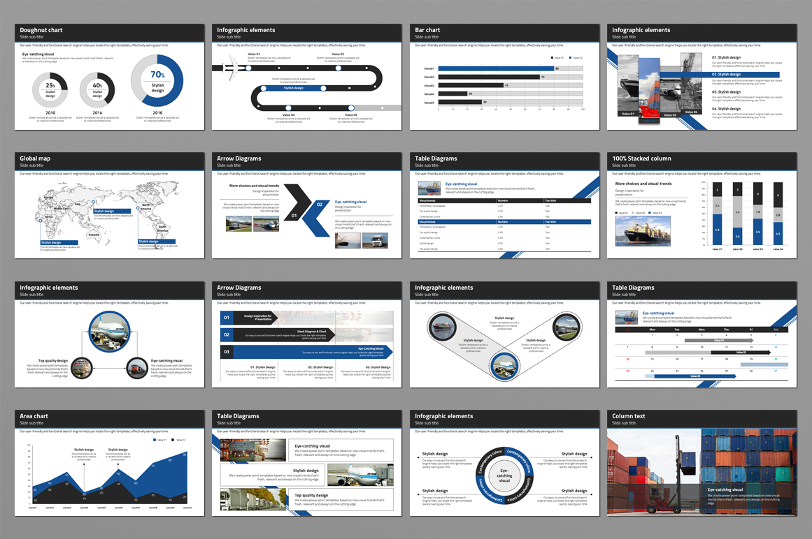 Trade Powerpoint Template example image 3