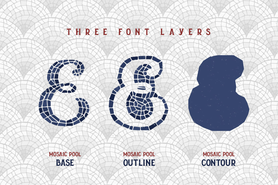 Mosaic Pool Typeface example image 4