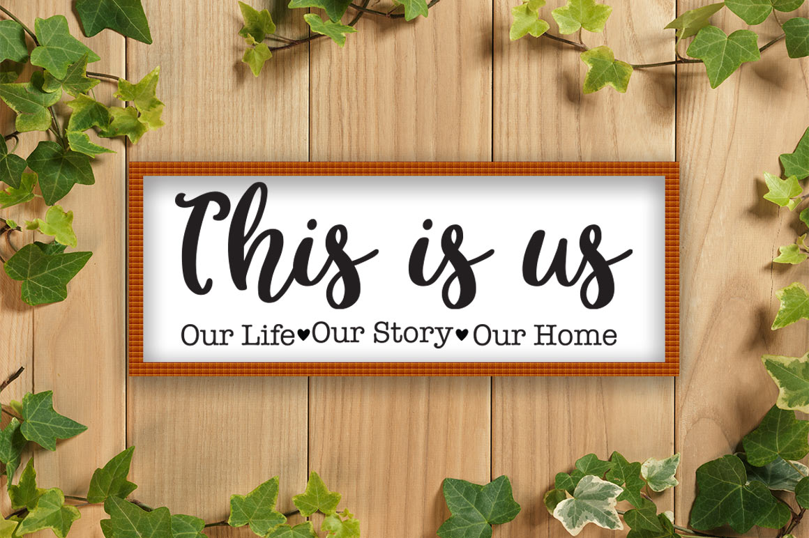 This Is Us SVG, Family SVG, This Is Us Cut File, Home SVG example image 2