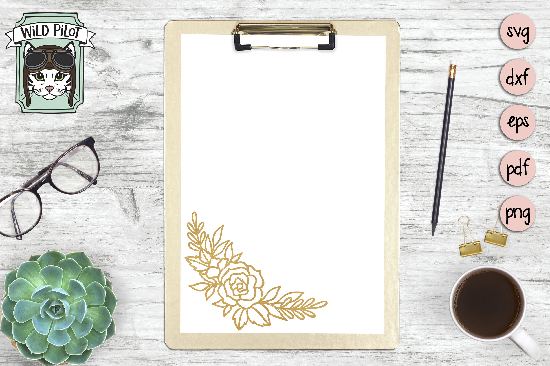 Flowers SVG file, Flower Border, Floral cut file, Roses example image 3