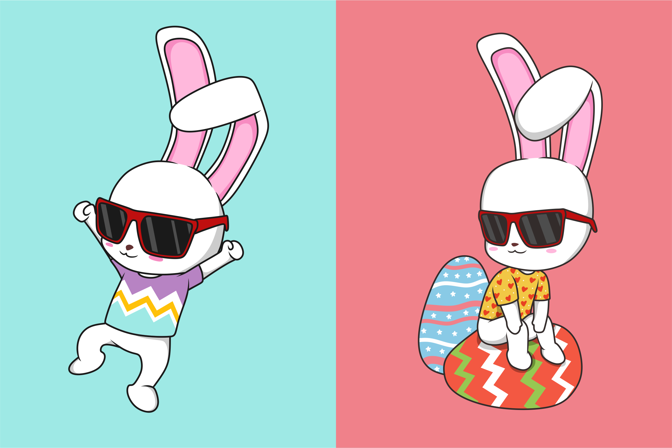 Funkie Bunny - SVG, EPS, DXF, PNG, example image 4
