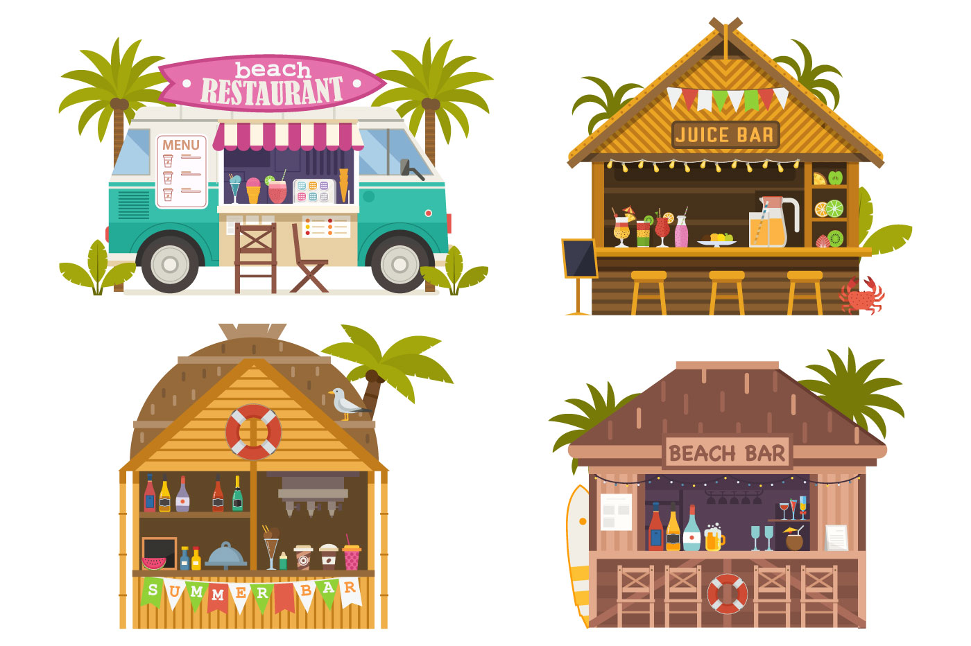 Summer Beach Bars and Restaurants example image 1