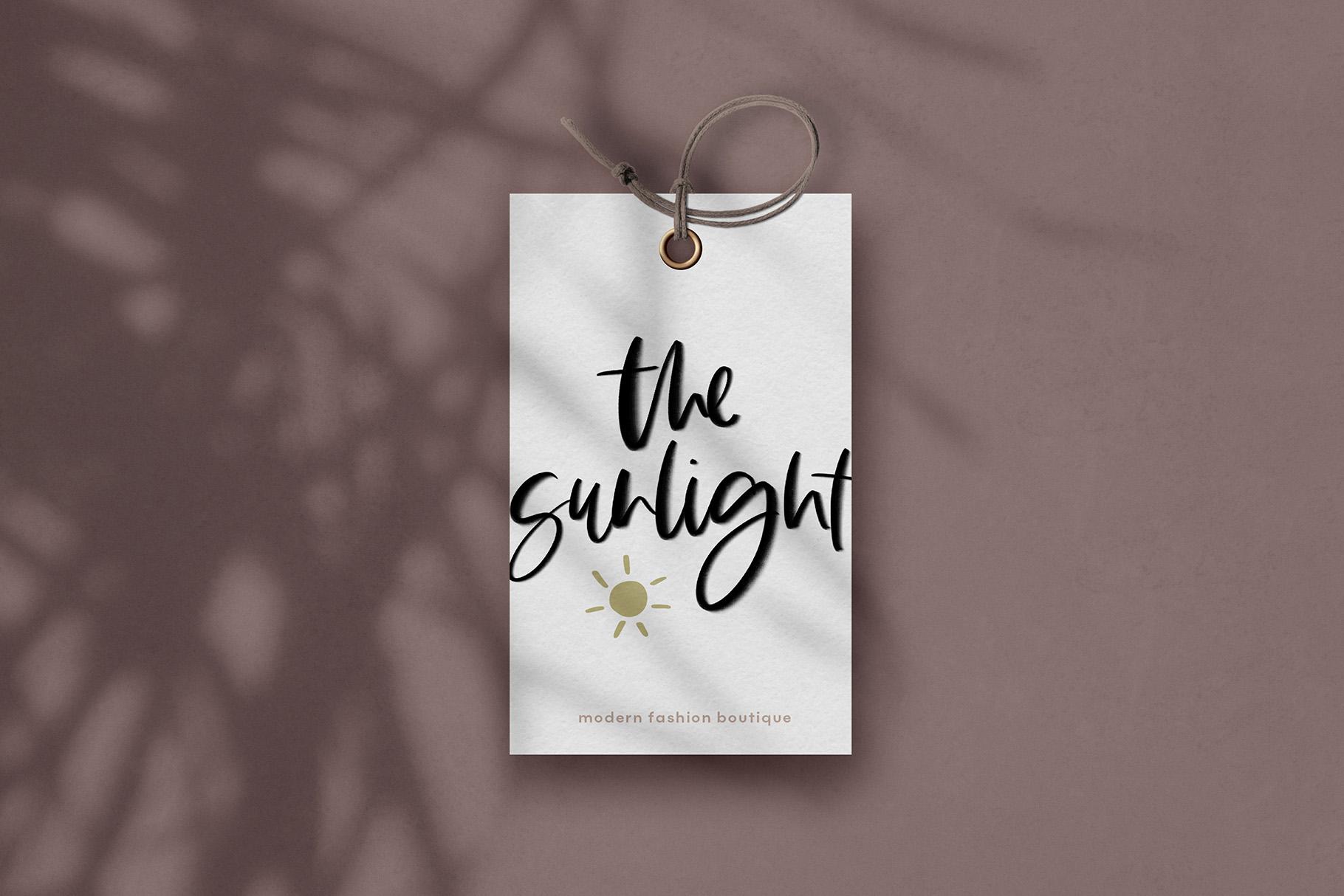 The Sunlight - A Handwritten SVG Script Font example image 9