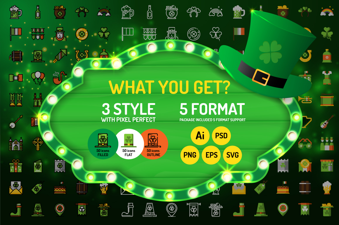 St.Patrick's Day Icons example image 2