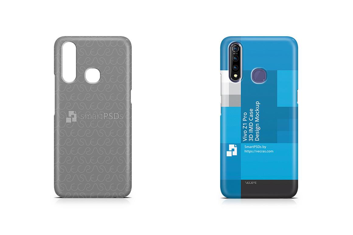 Vivo Z1 Pro 2019 3d IMD Case Design Mockup example image 1