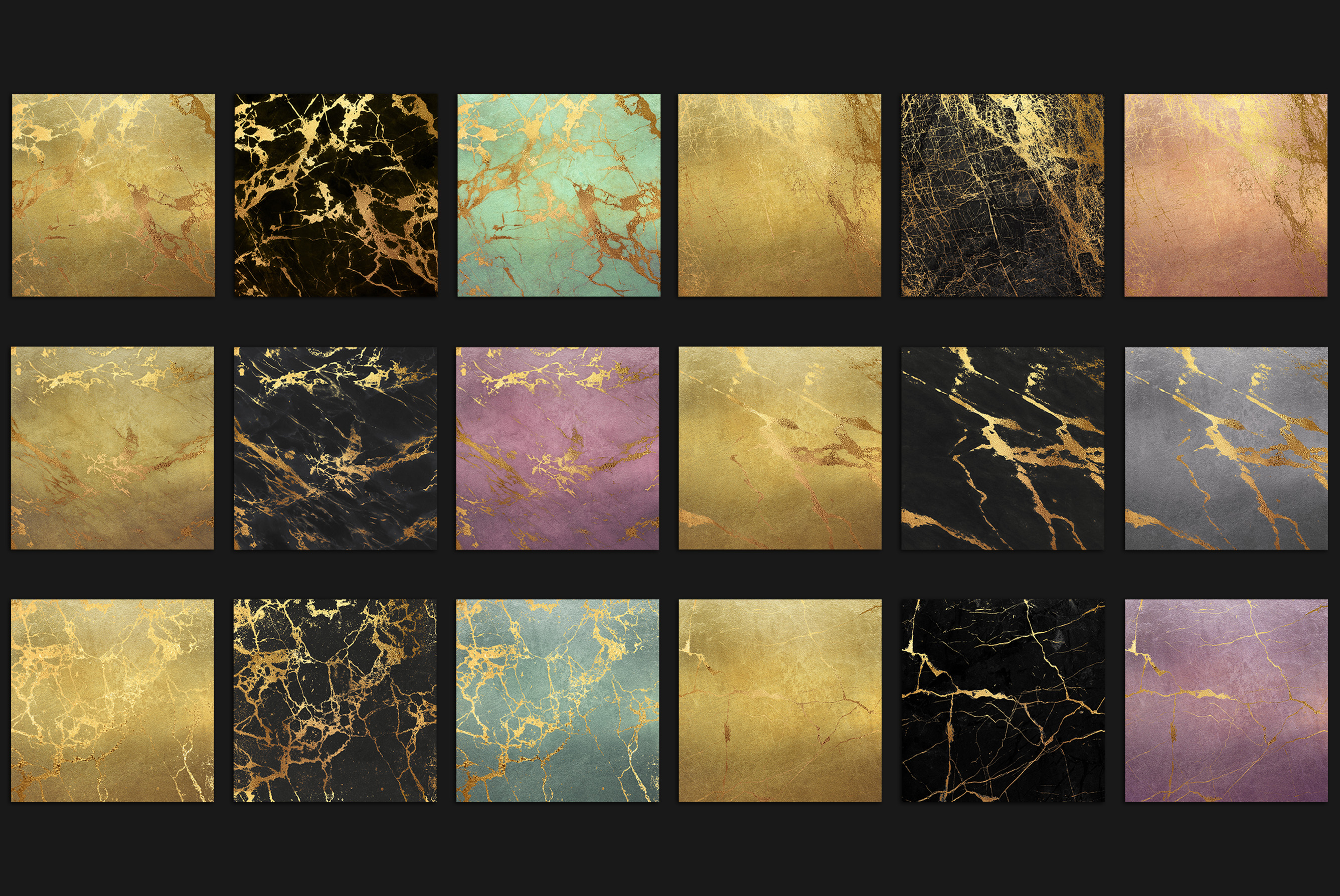 Gold Marble Digital Paper example image 4