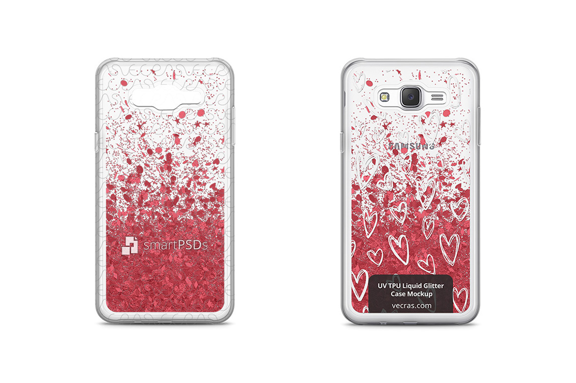 Samsung Galaxy J7 UV TPU Liquid Glitter Case Design Mock-up example image 1