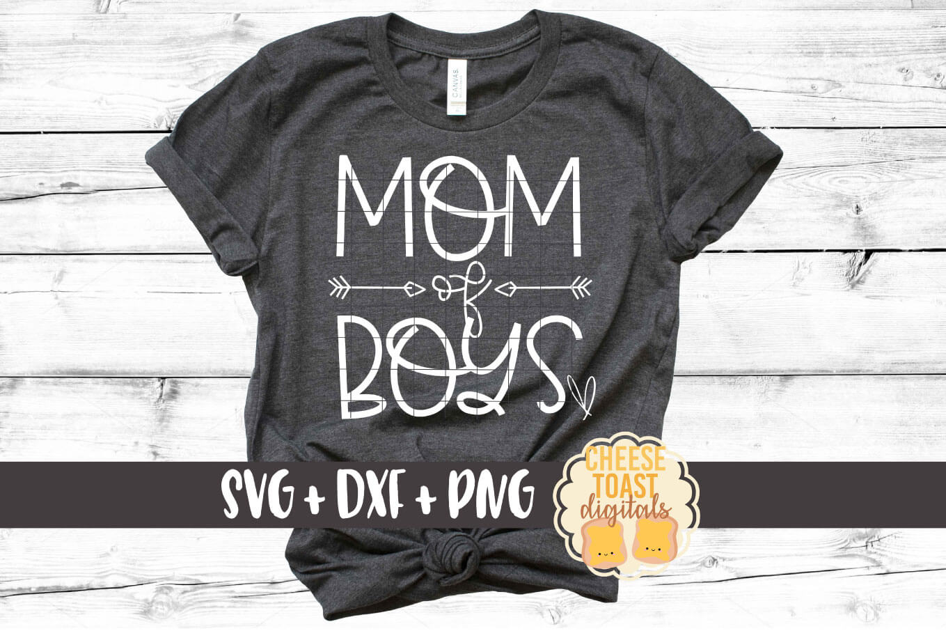 Mom of Boys - Mom SVG PNG DXF Cut Files example image 1