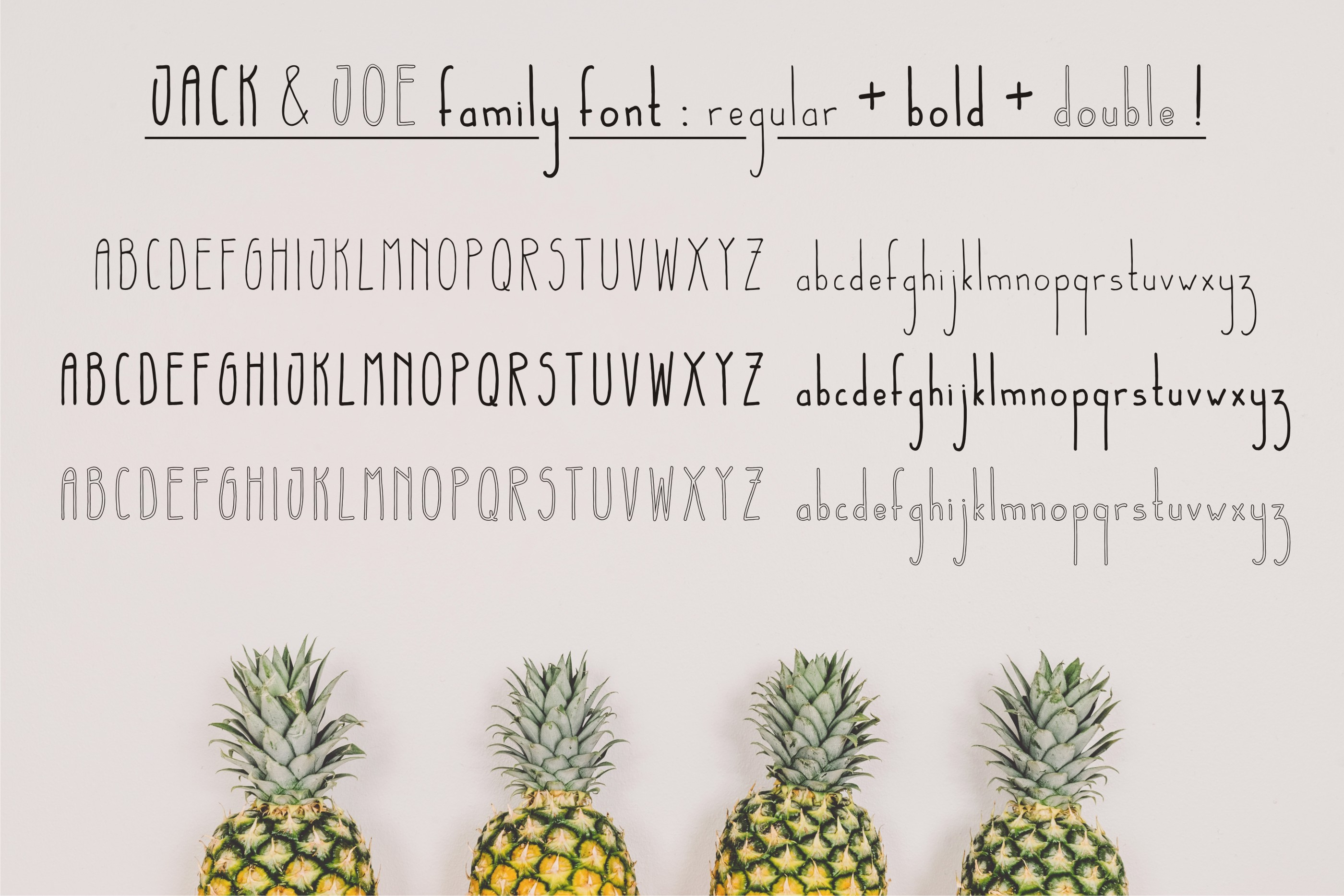 Jack and Joe font family example image 2