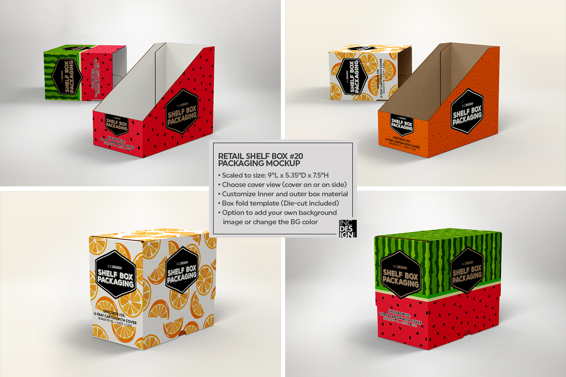 Retail Shelf Box 20 Packaging Mockup example image 2