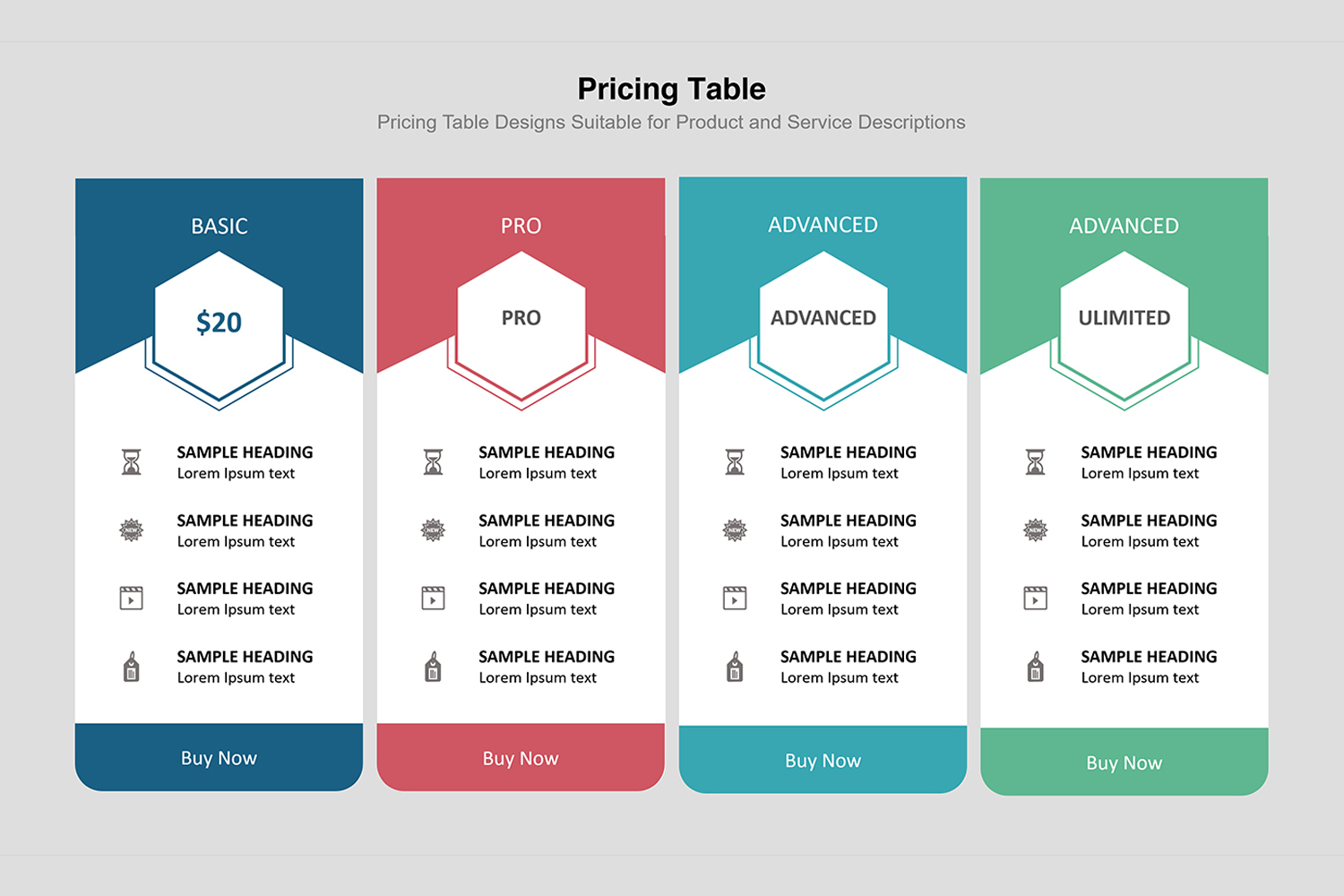 Price Table  Infographic Presentation example image 13