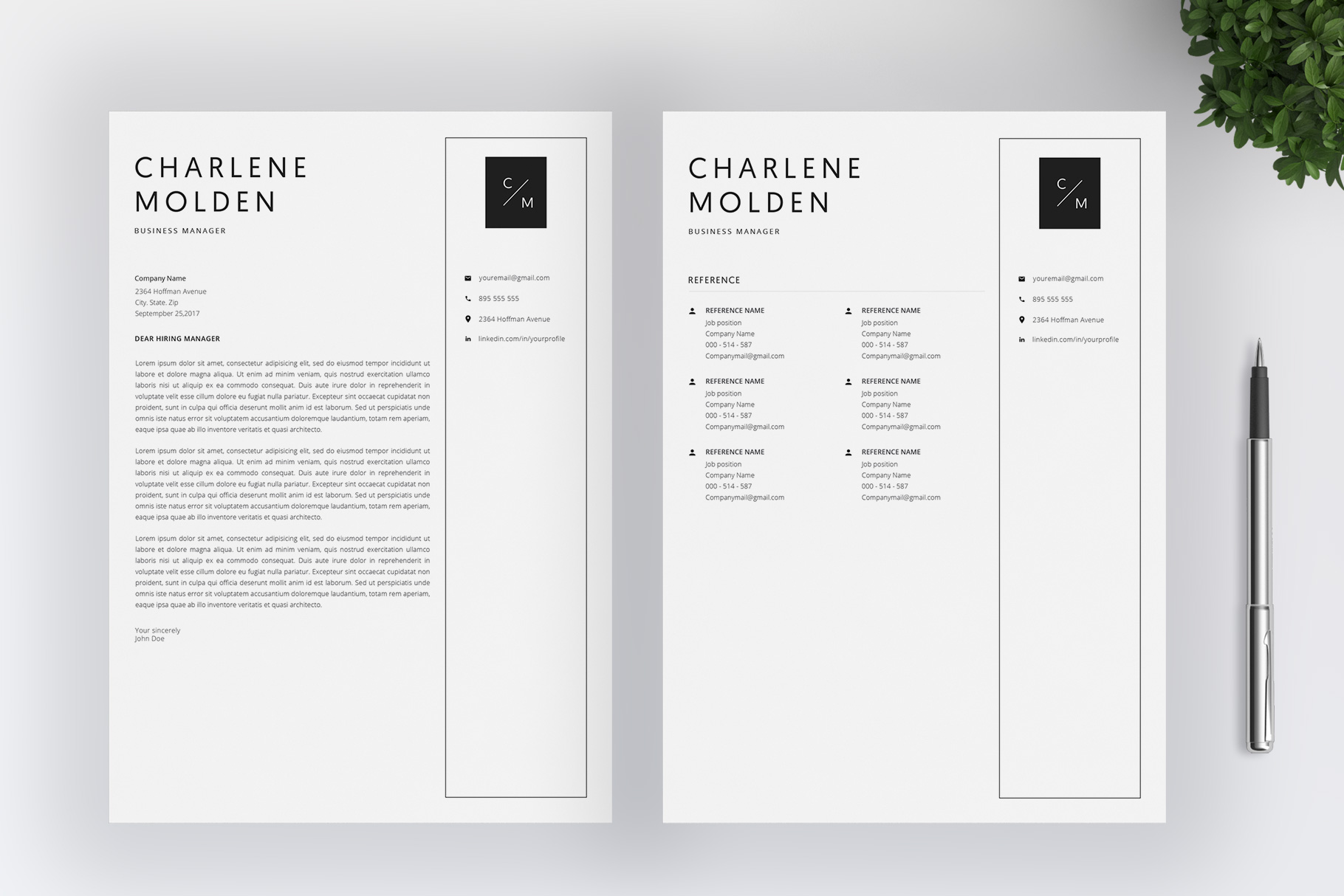 Creative Resume Template   Cover Letter example image 5