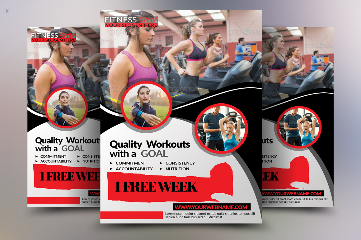 Fitness Flyer Template example image 2