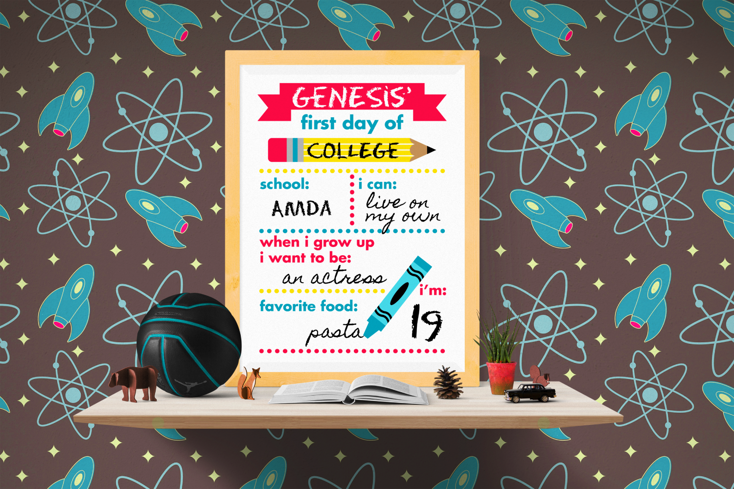 First Day of School Poster SVG, PDF, & PNG Design example image 1