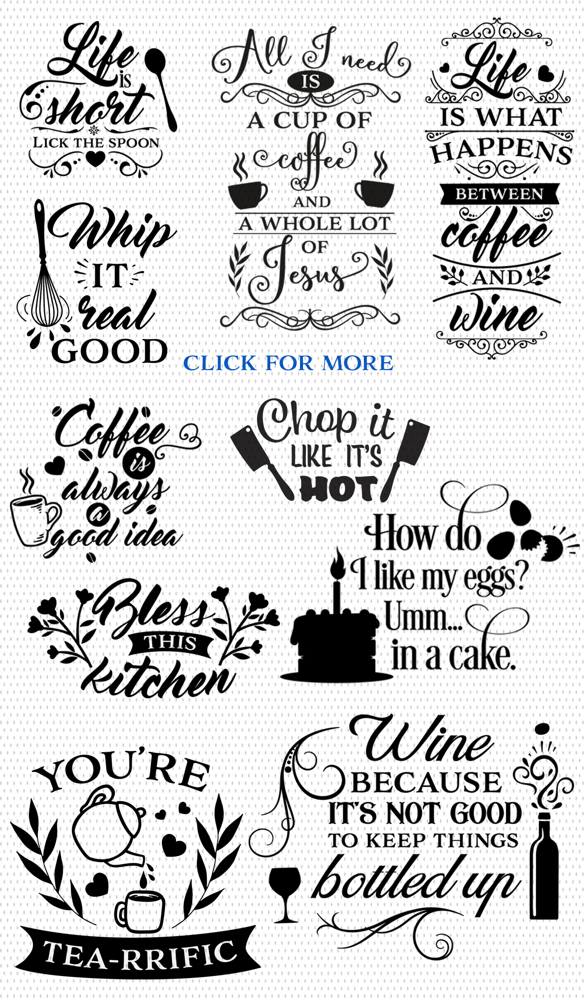 Kitchen SVG Cut Files Pack - Limited Promotion! example image 2