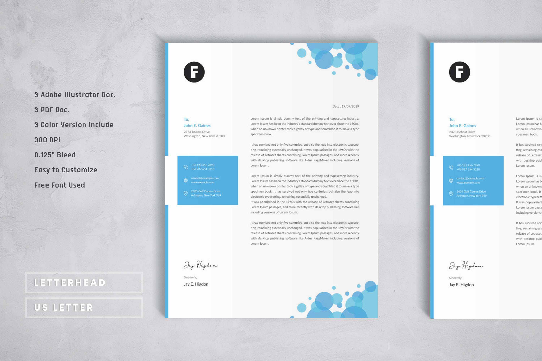 Creative Letterhead Template example image 2