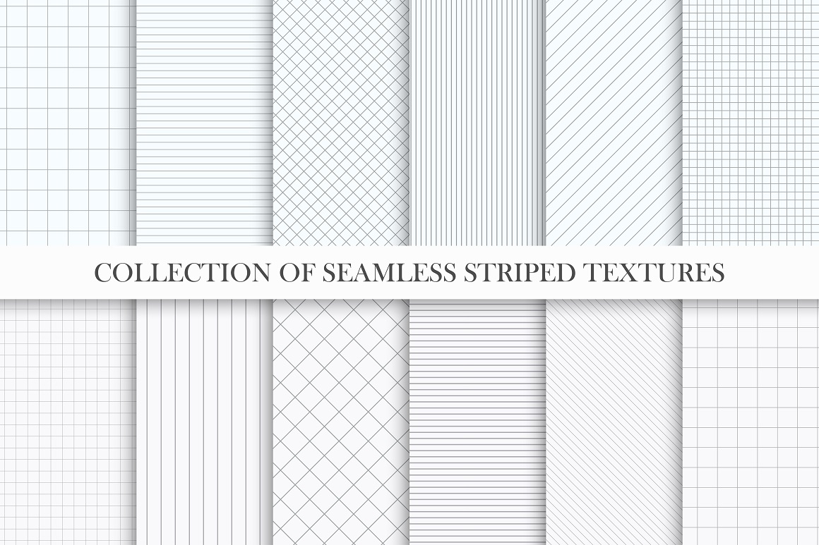 Set of seamless striped textures example image 1