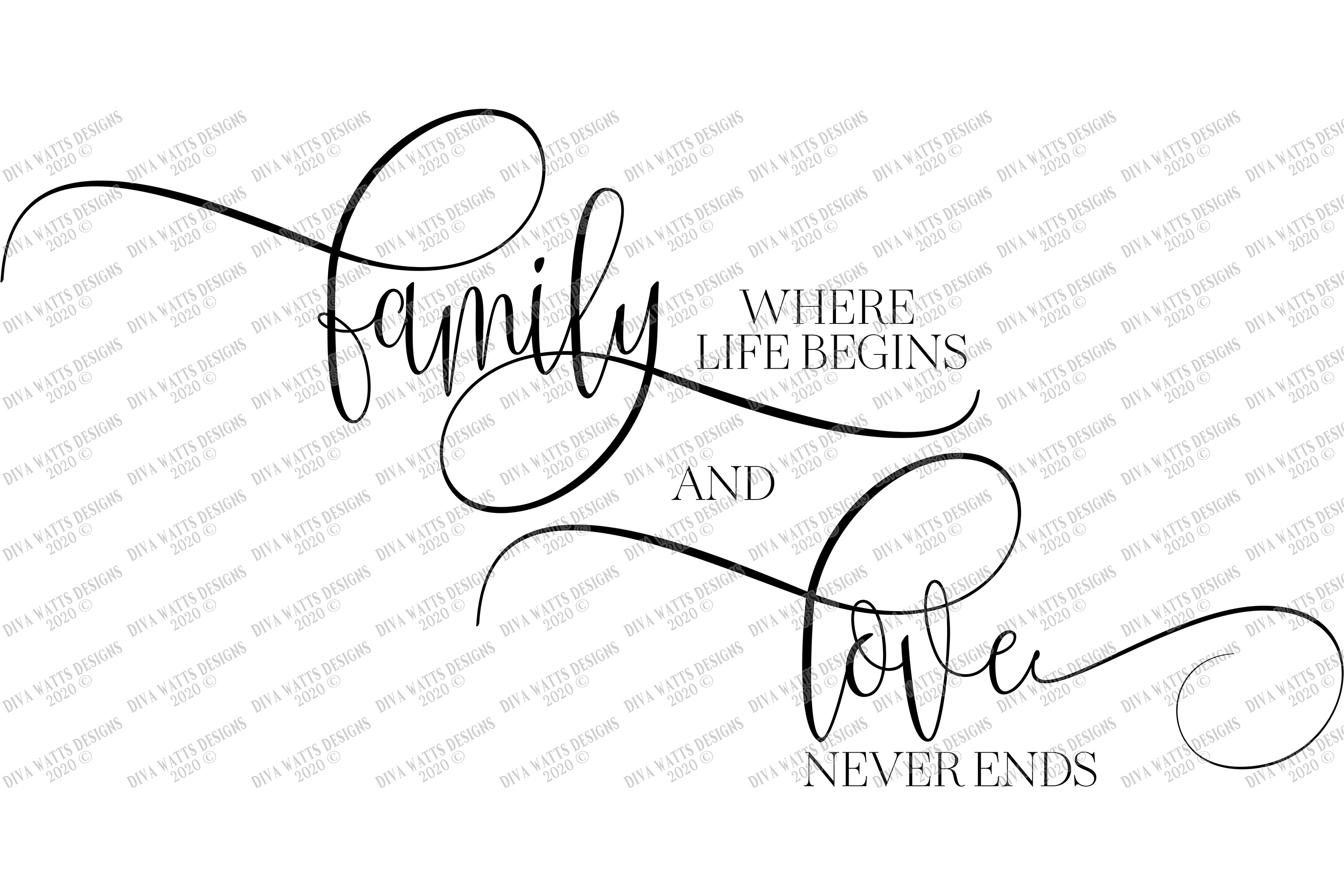 Download Family Where Life Begins and Love Never Ends - SVG PNG EPS ...
