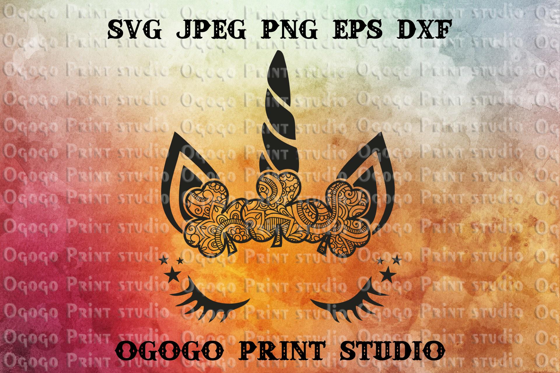 Shamrock SVG, Unicorn svg, Zentangle SVG, St Patrick's Day example image 1