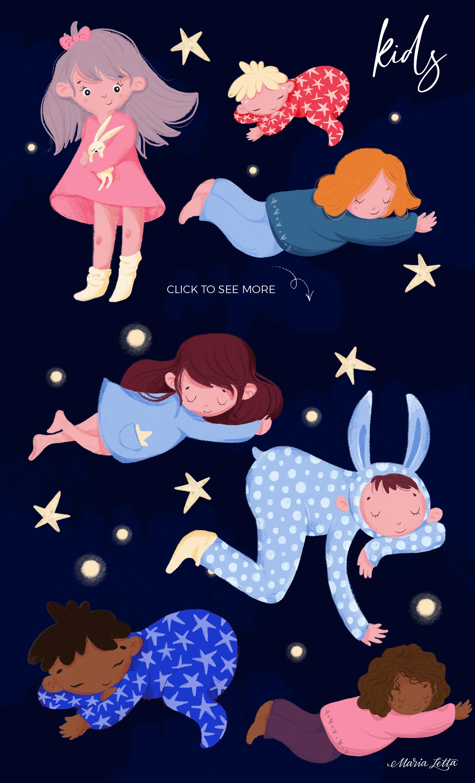 Good night - kids design creator example image 3