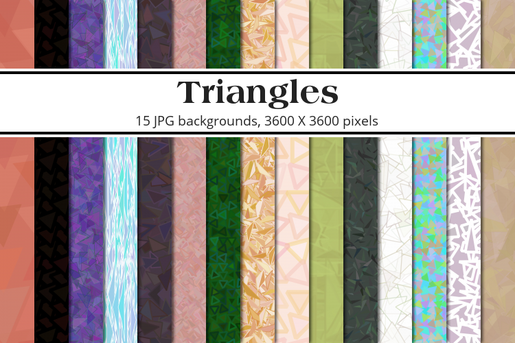 Triangles Background Pack example image 1