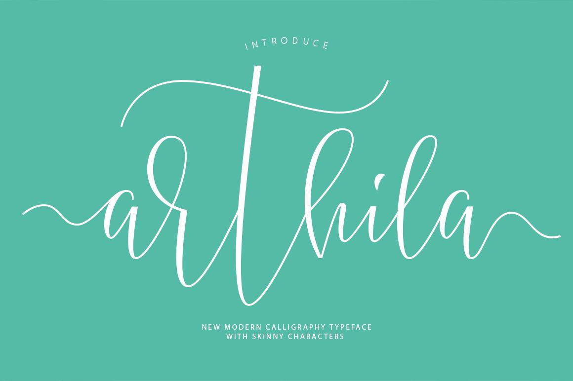 Arthila Script-50% OFF example image 1