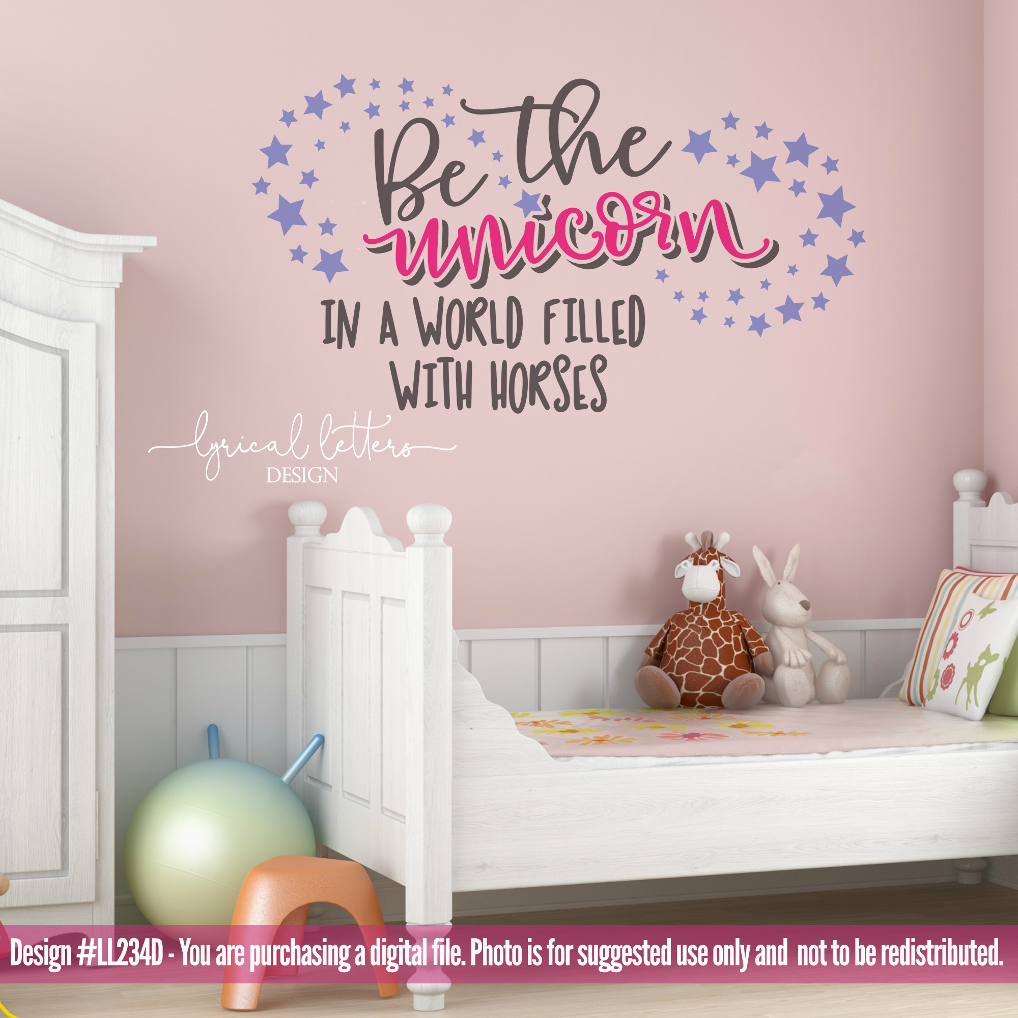 Be the Unicorn In a World Filled with Horses SVG DXF L234DL example image 2