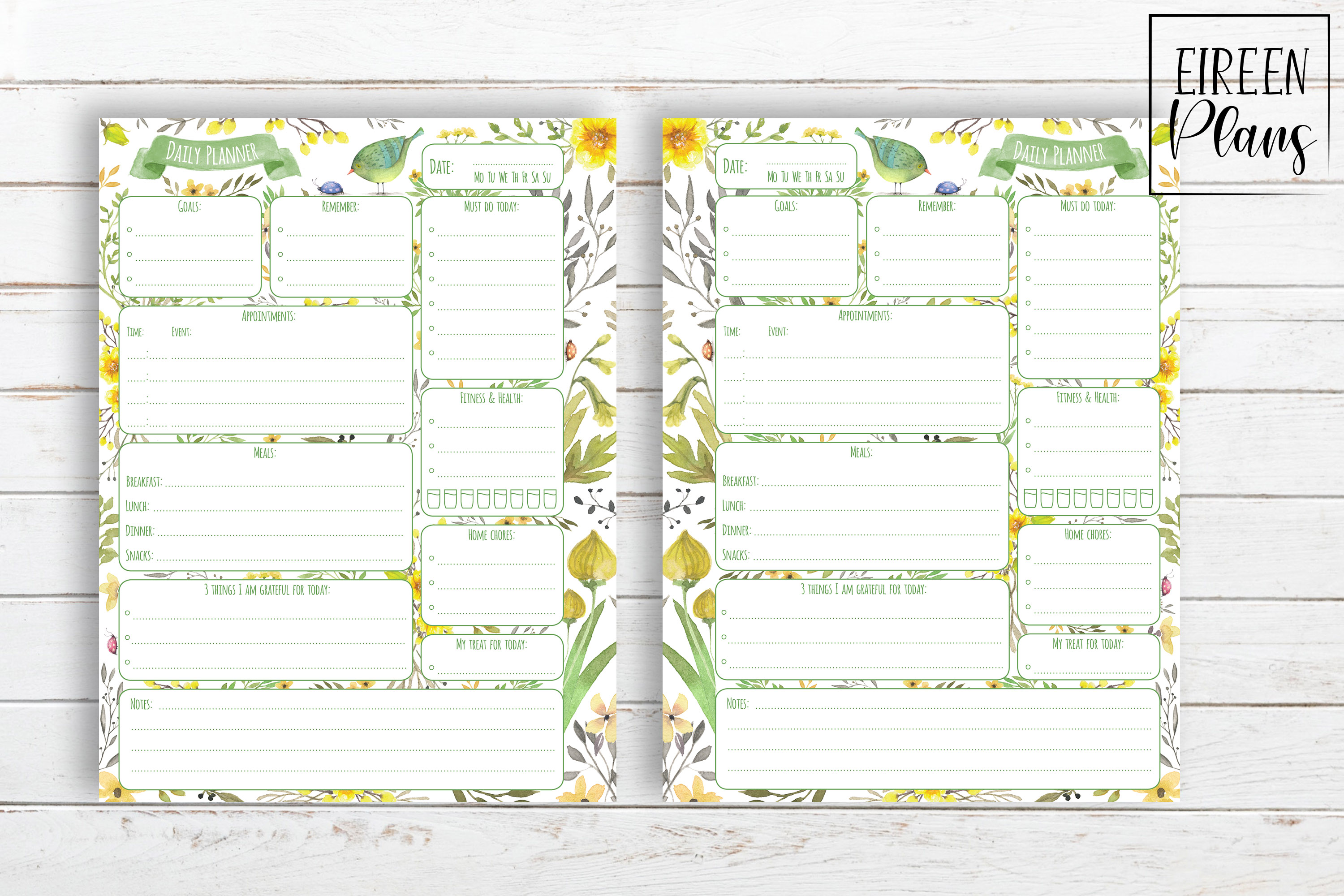 Daily Printable for Classic Happy Planner example image 2