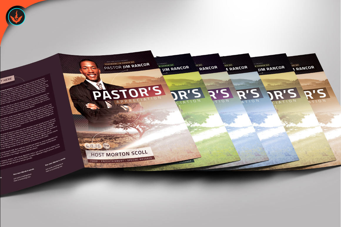 Modern Pastors Appreciation Program Photoshop Template example image 4