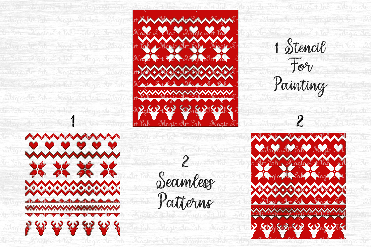 Sweater pattern svg, Christmas pattern svg, Ugly sweater svg example image 2