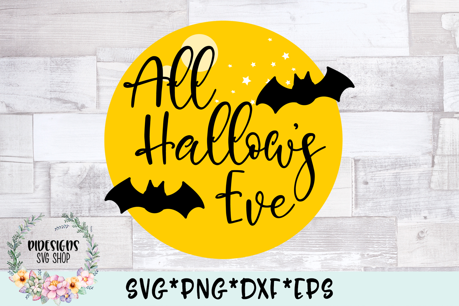 All Hallow's Eve Halloween Frame SVG Cut File example image 2