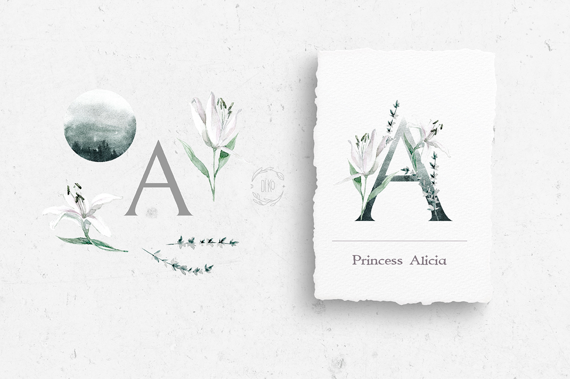 Gloomy fairytale graphic collection. example image 4
