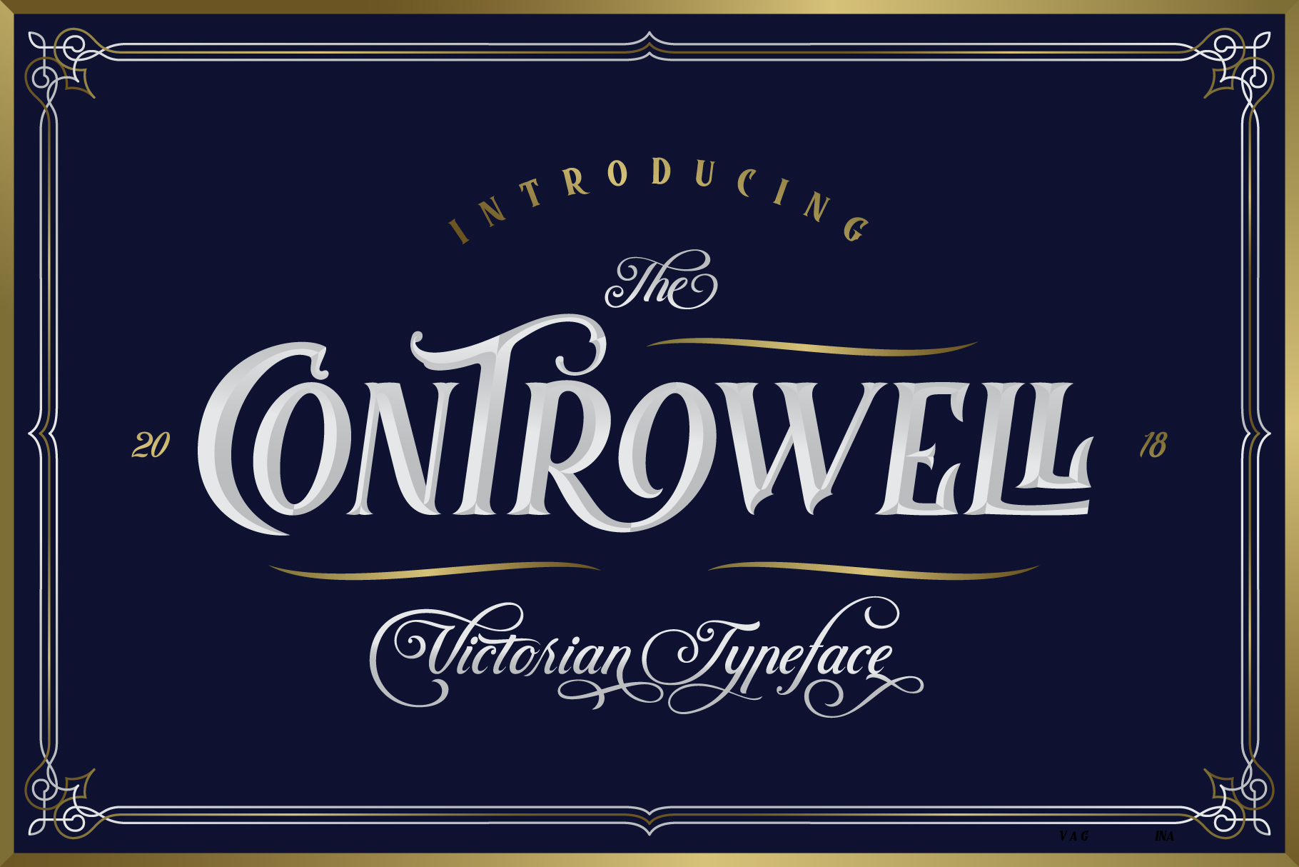 Controwell Victorian Typeface example image 2