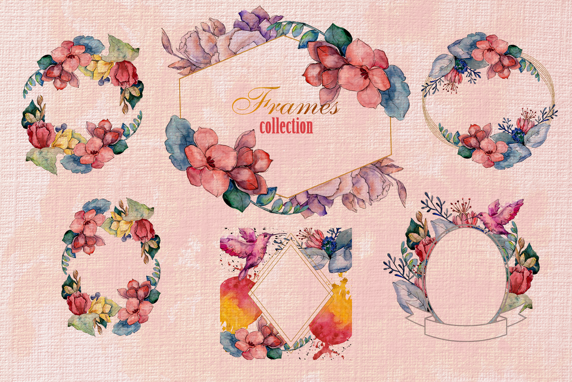 Bouquet gifts of nature watercolor png example image 6