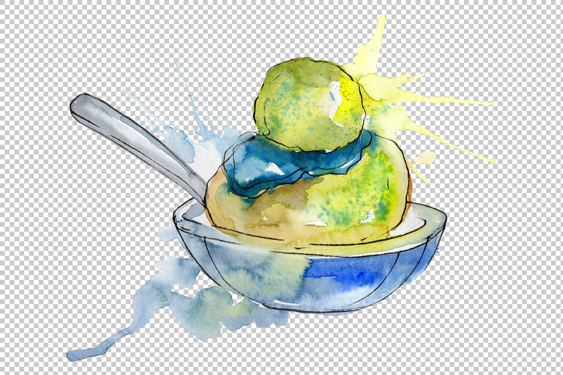Dessert Appetizing Watercolor png example image 4