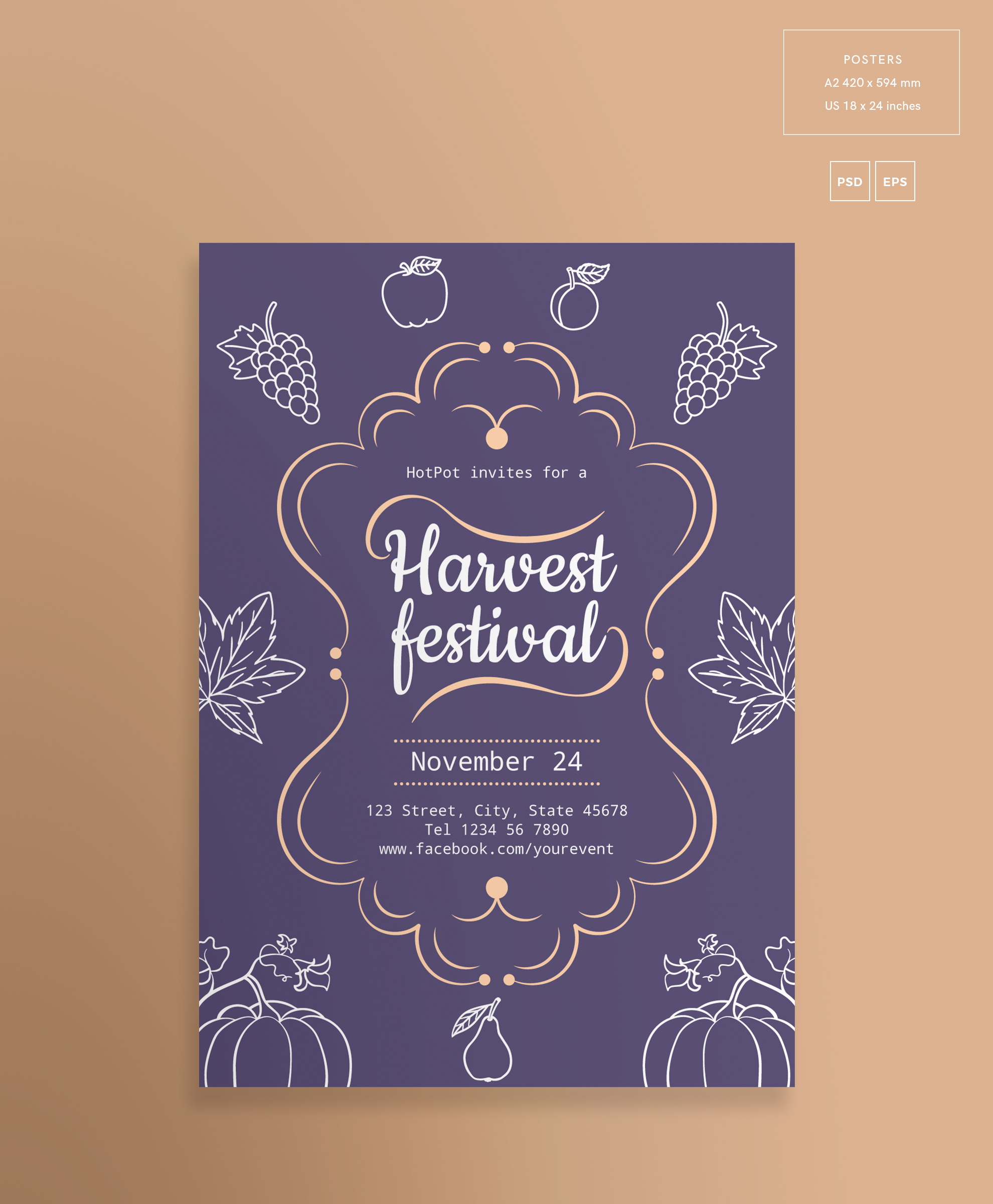 Harvest Festival Design Templates Bundle example image 3