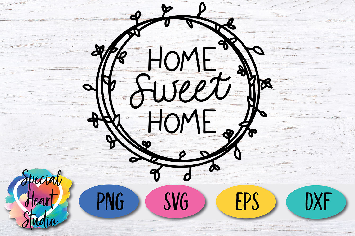 Hand lettered Home Sweet Home SVG - Home decor, sign, pillow example image 2