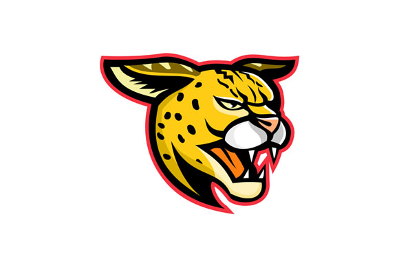 Serval Wild Cat Mascot example image 1