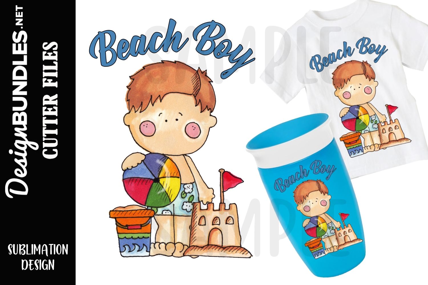 Beach Boy Sublimation SVG example image 1