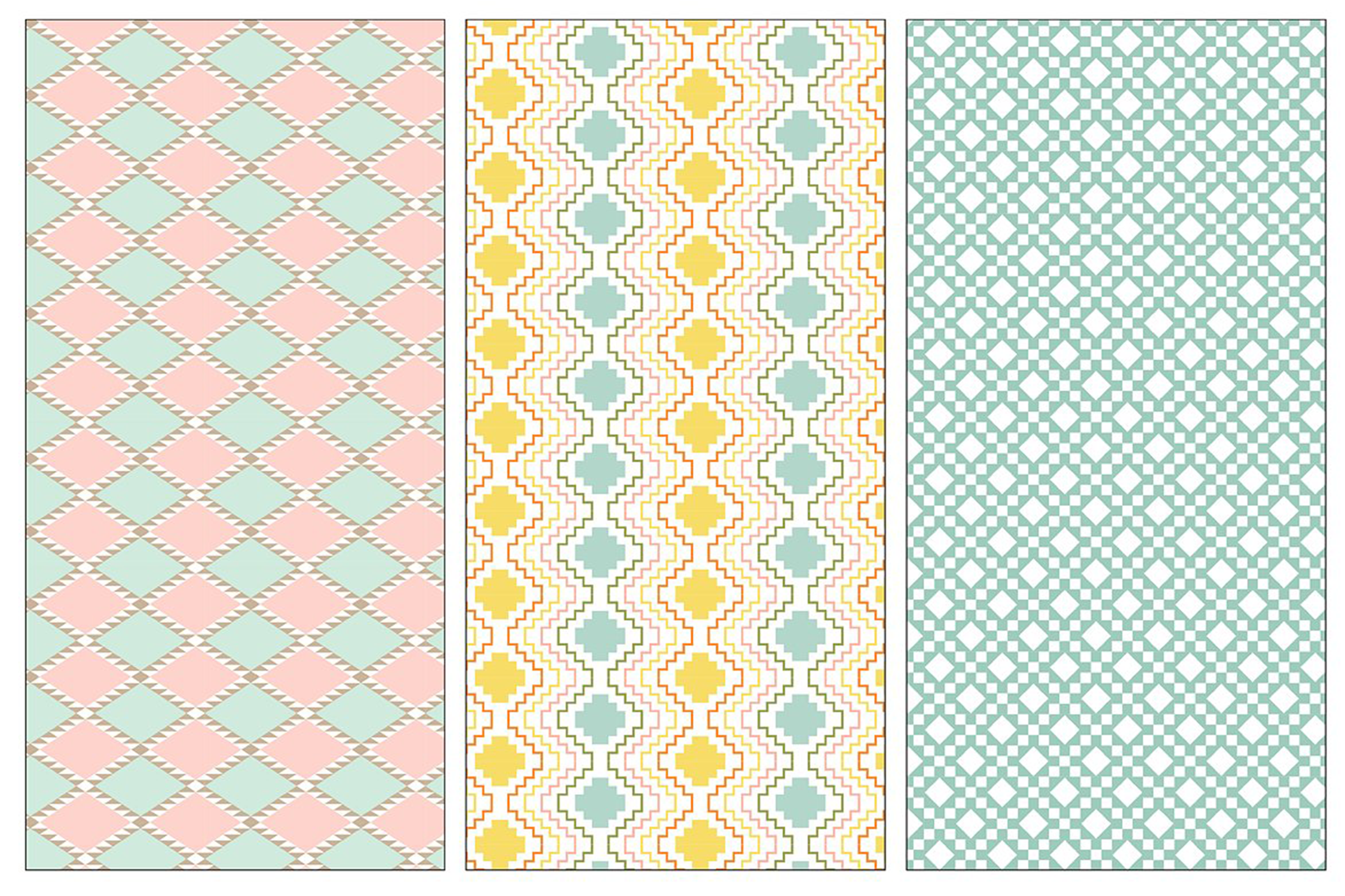 Seamless Pastel Native American Patterns example image 7