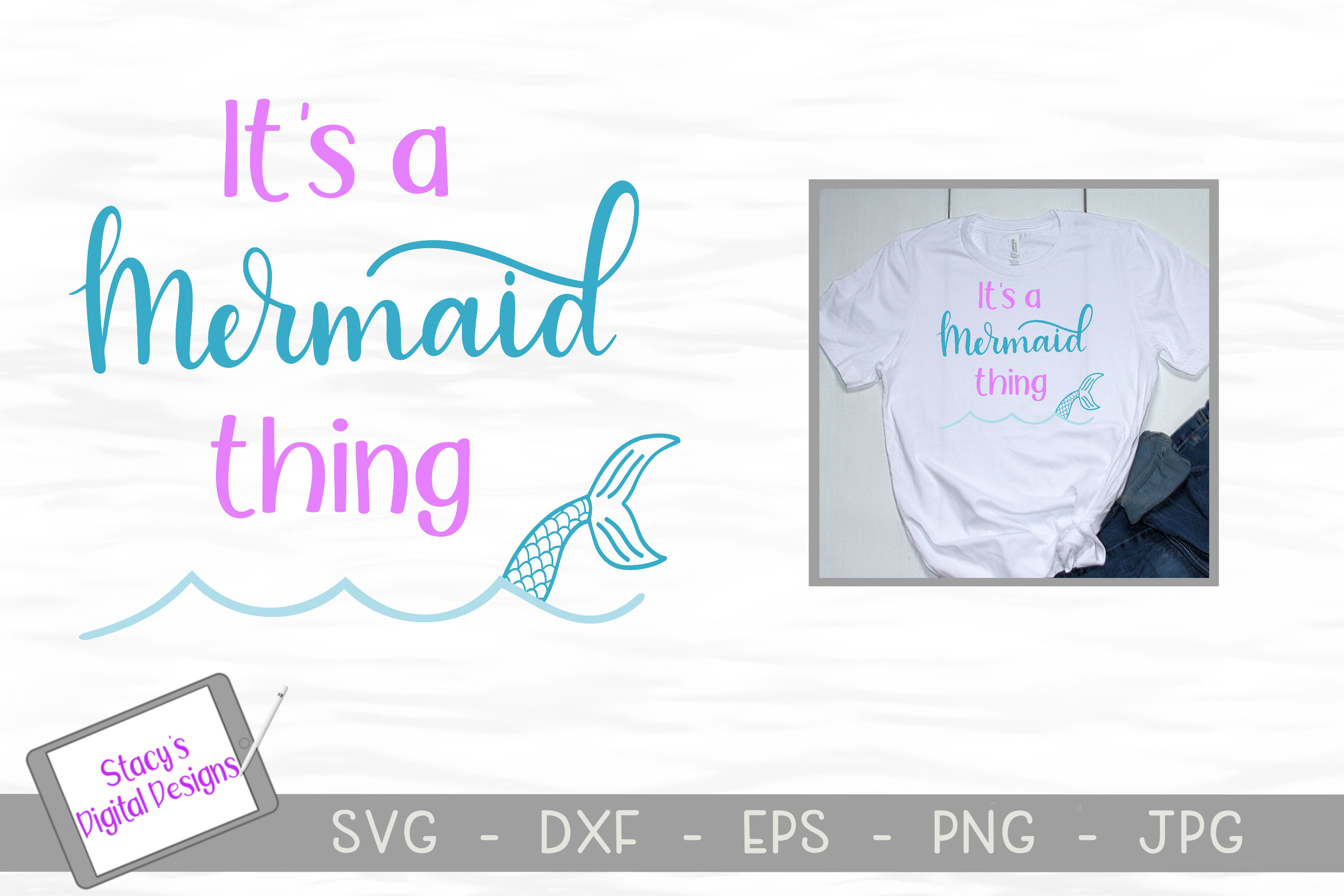 Mermaid SVG Bundle - 4 Mermaid SVG designs example image 5