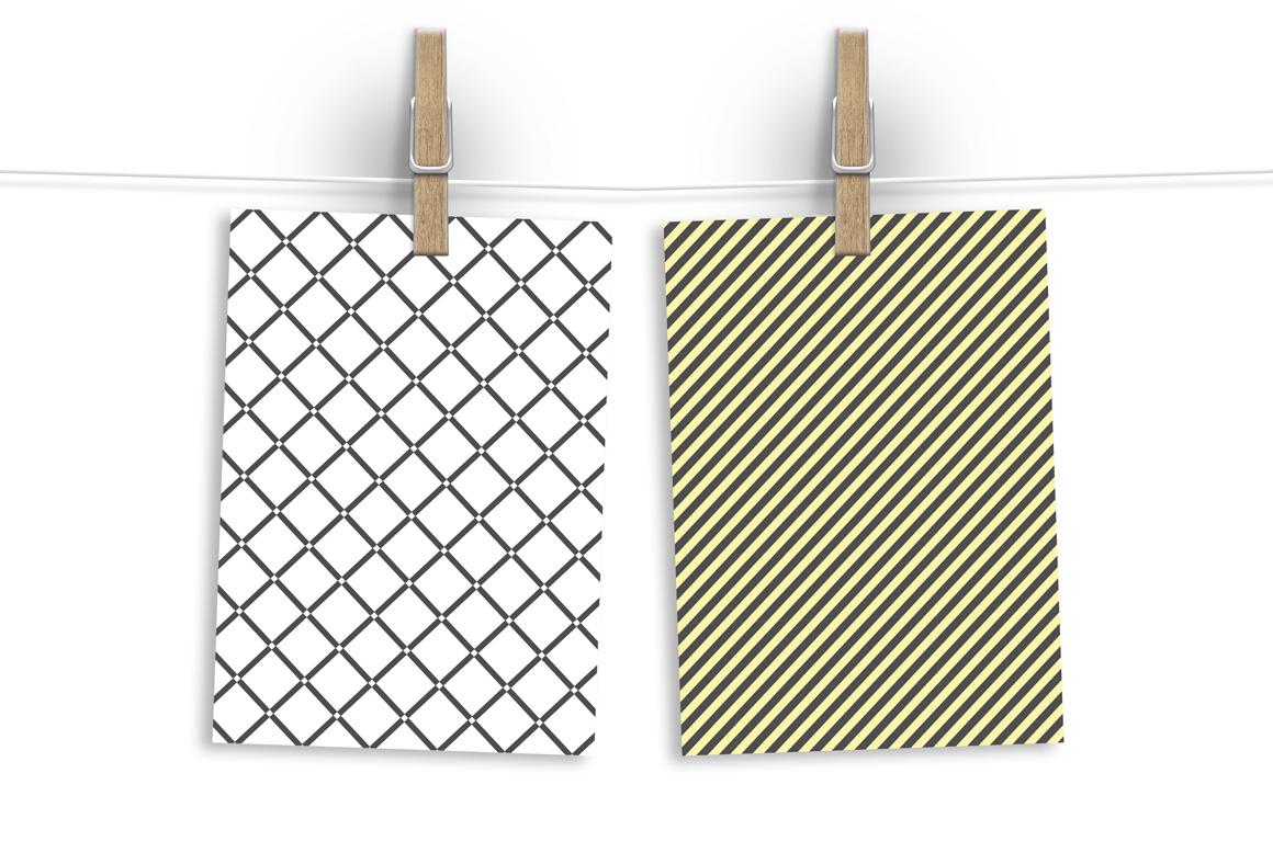 Seamless geometric patterns set. example image 5
