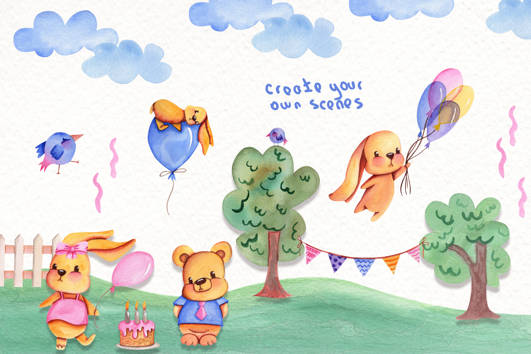 Party Time Watercolor Collection example image 7