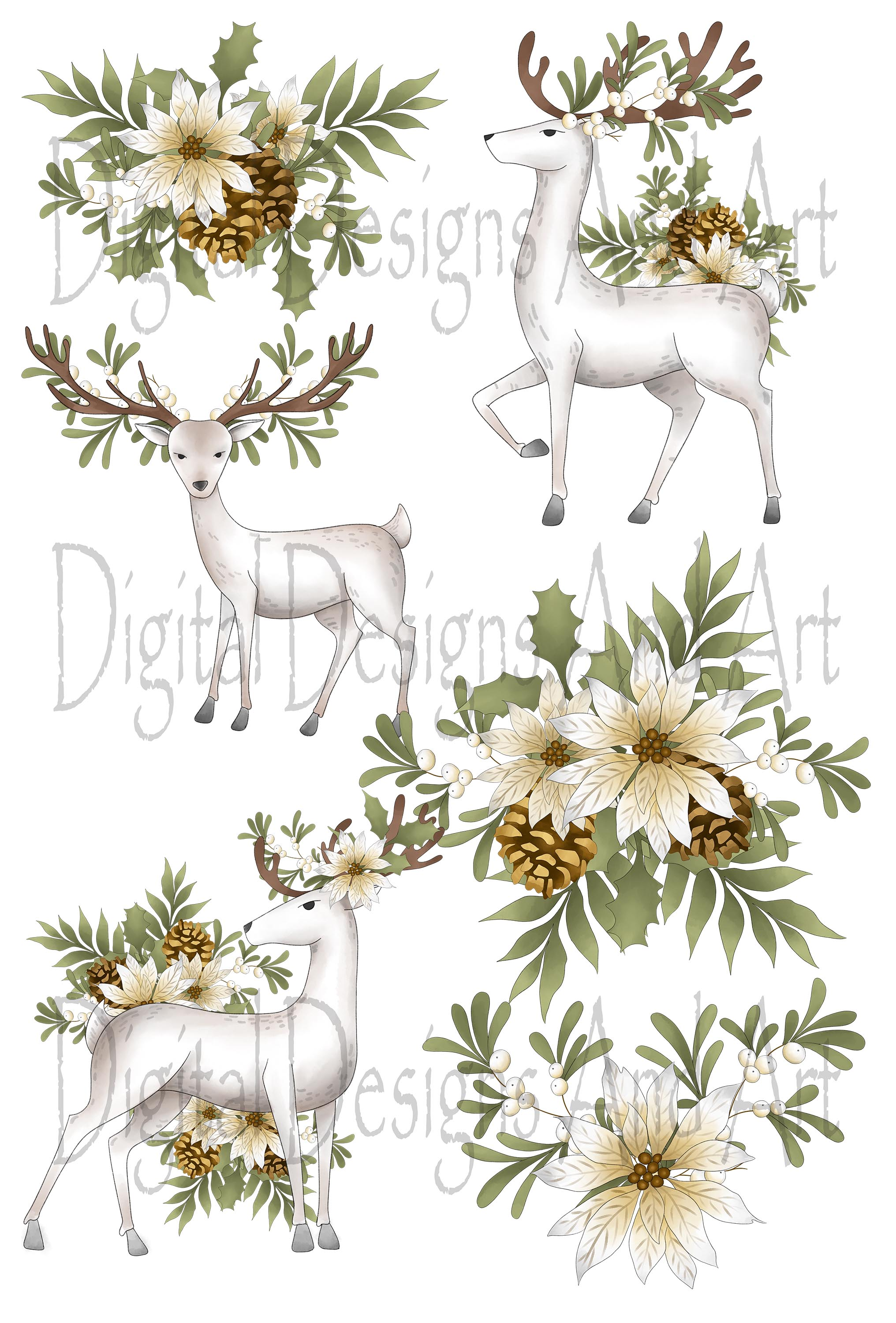Winter deer example image 5
